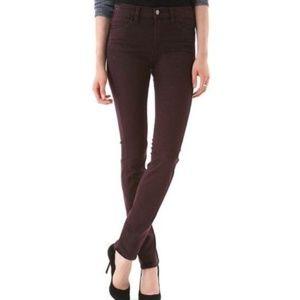 J. Brand Skinny Jeans Noir Red 28